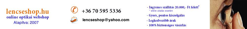 lencseshop webáruház, webshop