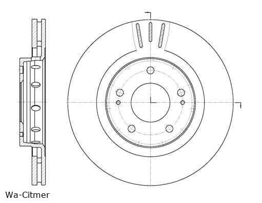 Citroen C Crosser e. féktárcsa