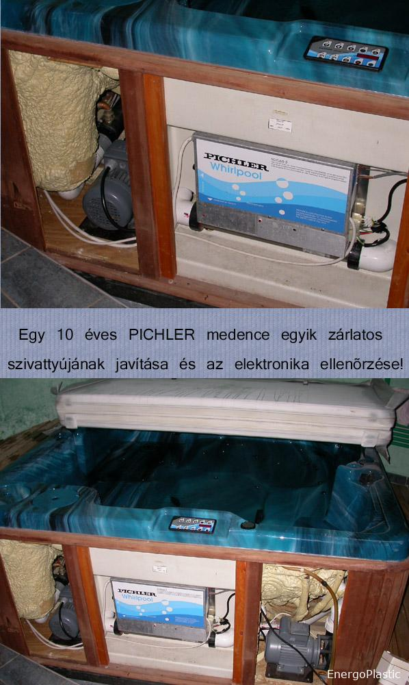 Pichler masszázsmedence javítása.