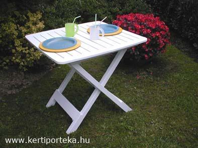 TEVERE összecsukható fehér kemping asztal