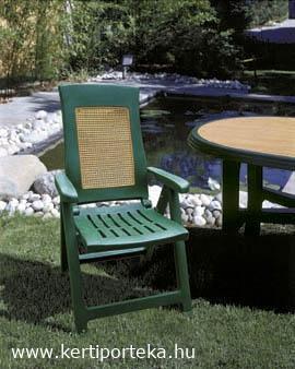 AMBRA WOOD állítható támlás zöld szék
