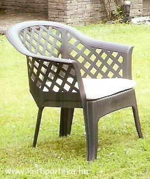 LARIO sötétzöld fotel egymásba rakható