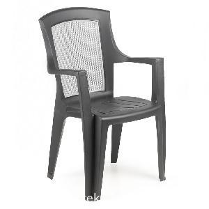 VIOLA CLASS magas támlás antracit szék szürke betéttel