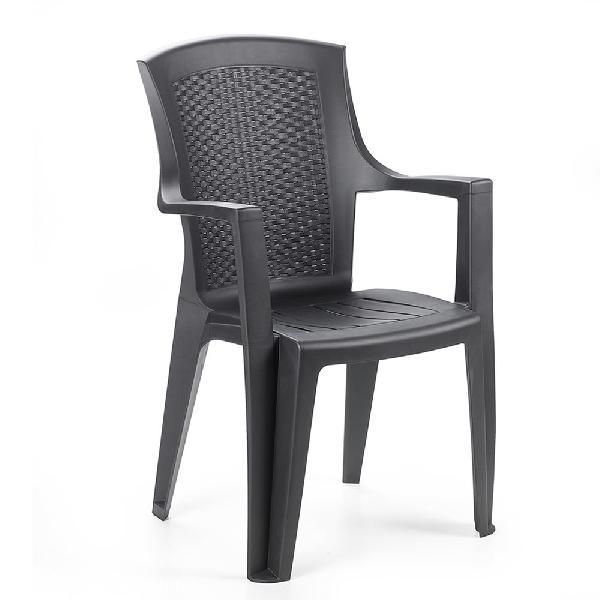 EDEN rattan hatású magas támlás antracit szék