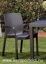 REGINA rattan hatású antracit szék