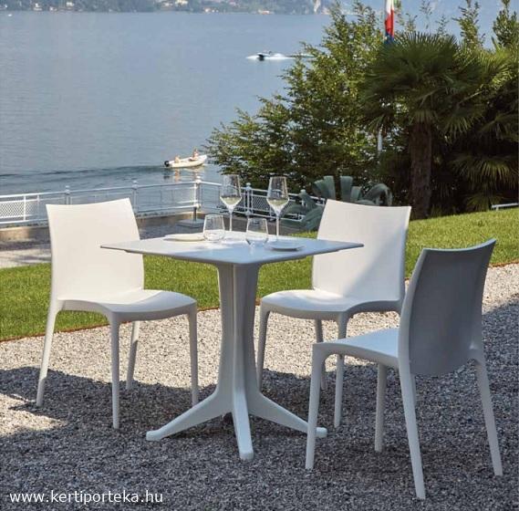PONENTE fehér 70x70cm asztal