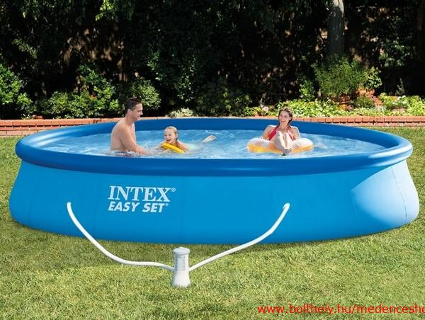 Intex 396x84cm puhafal medence 2m3 h v zforgat val for Intex webshop