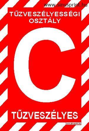 """""""C"""" Tűzveszélyességi osztály"""
