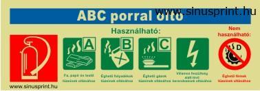 - ABC porral oltó biztonsági jel - utánvilágító