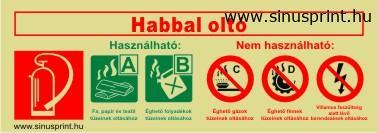 - Habbal oltó biztonsági jel - utánvilágító