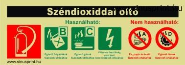 - Széndioxiddal oltó biztonsági jel - utánvilágító