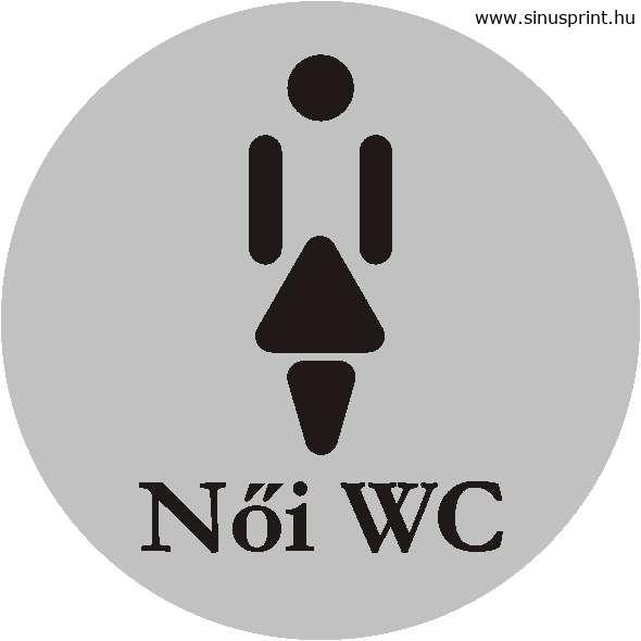 WC piktogram - Női