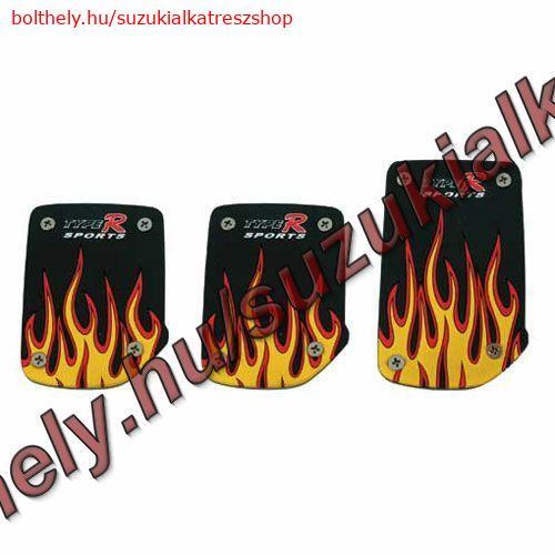 Pedálvédő Fire piros-feketeS15028Pilot