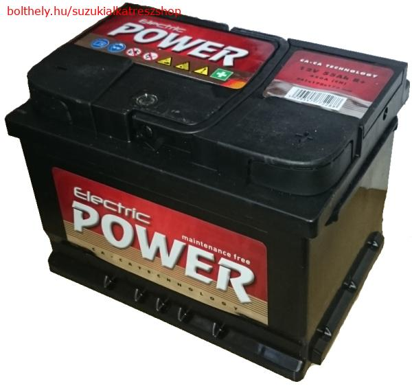 Akkumlátor 12V55Ah normál sarus Electric Power Suzuki új Swift SX4 Vitara Baleno Jász Akku 33610-83E55