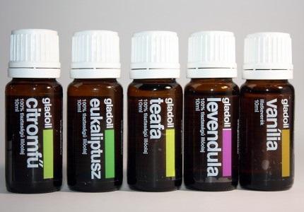 Gladoil illóolajok 10ml citromfű, eukaliptusz, fahéj, fenyő, borsmenta,citrom, citromfű, levendula, narancs, teafa, sültlama, stresszoldó, mézeskalács, karácsonyi, adventi