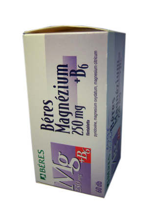 B�res Magn�zium  250mg+ B6 filmtabletta 60x *