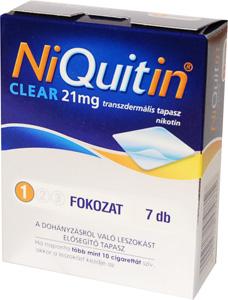 NiQuitin CQ Clear 21 mg transzderm�lis tapasz 7x