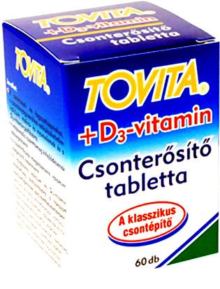 Tovita+ D3-vitamin Csonter�s�t� tabletta 60x