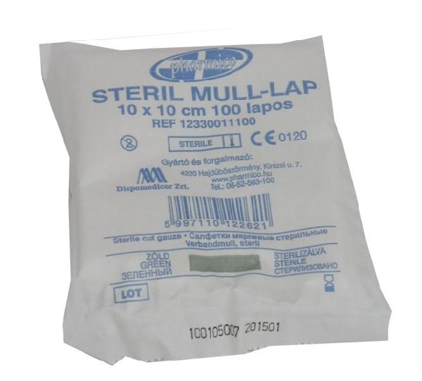 Steril mull lap 10x10cm *