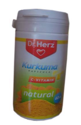 Kurkuma + C-vitamin kapszula 60x Dr. Herz