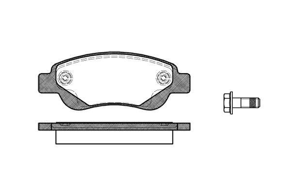 Citroen C1 fékbetét első Remsa