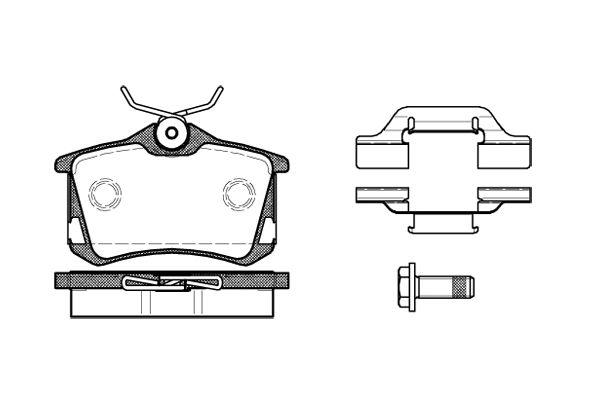 Citroen C8 fékbetét hátsó Bosch