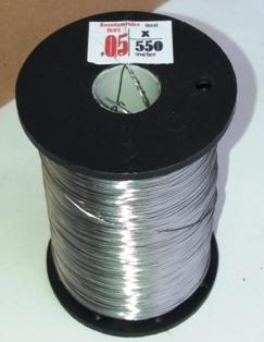 0,5 X -550 méter rozsdamentes INOX keretfűző huzal  dobra csévélve
