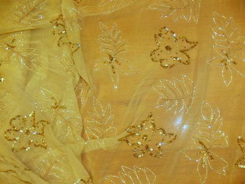 KT-Indiai muszlin 14/sárga