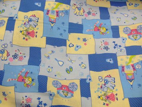 DE-ZD-3558/01/királylány patchwork kék