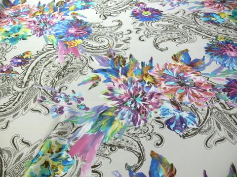 Chanel/37355/színes virág - </b>Rendelhető