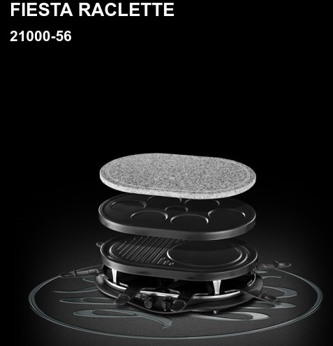 Russell Hobbs 21000-56 Fiesta raclette 8 személyes