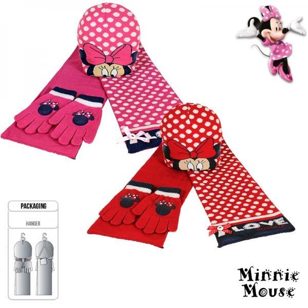 Minnie pöttyös sapka-sál-kesztyű szett - Gerzsóház - webáruház 3732ec4f34