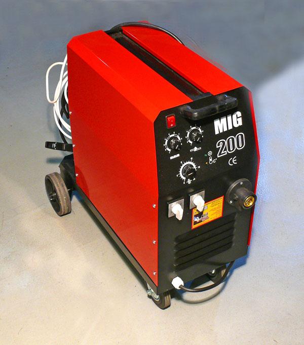 MIG-200 MIG/MAG TRAFÓS CO2-VÉDŐGÁZAS HEGESZTŐGÉP
