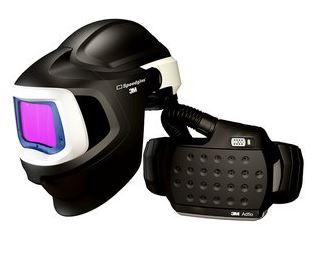 Speedglas 9100 MP hegesztőpajzs és védősisak, Adflo légzésvédővel, 9100V hegesztőkazettával 577705
