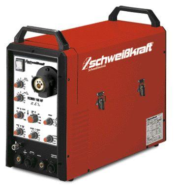 Schweisskraft Kombi 160HF MIG, AWI, elektróda, nagyfrekv. gyújtású hegesztőgép