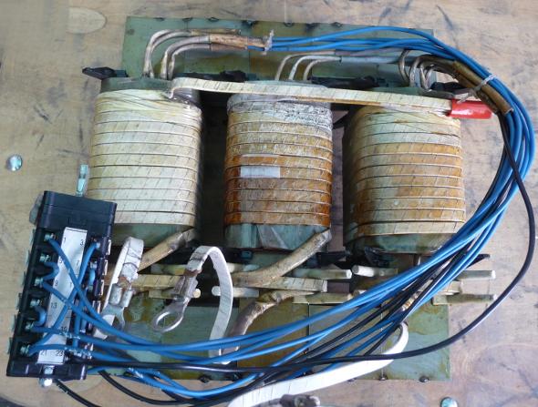 CO hegesztőgép főtrafó kapcsolózva 400V 200A