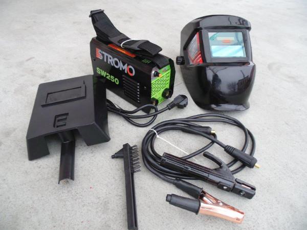 STROMO 250A Inverteres hegesztőgép + automata fejpajzs