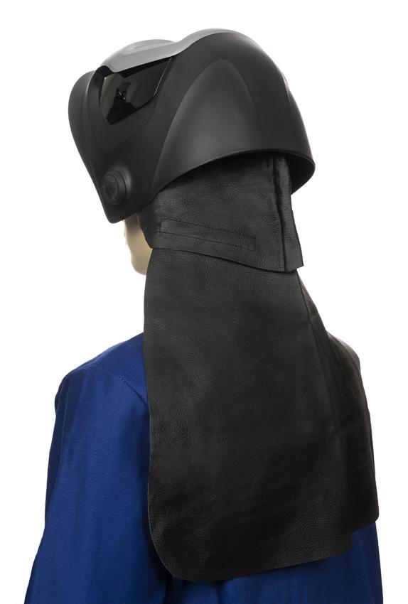 Weldas fekete barkás sertésbőrből készült hátsó nyakvédő 44-7181