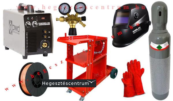 PWD MIG 200 hegesztőgép csomagban