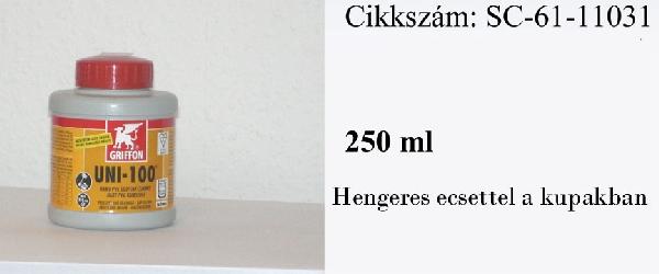 GRIFFON UNI 100 PVC ragasztó 250ml zárható flakonos