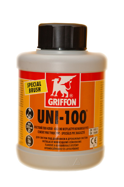 GRIFFON UNI 100 PVC ragasztó 1000ml zárható flakonos
