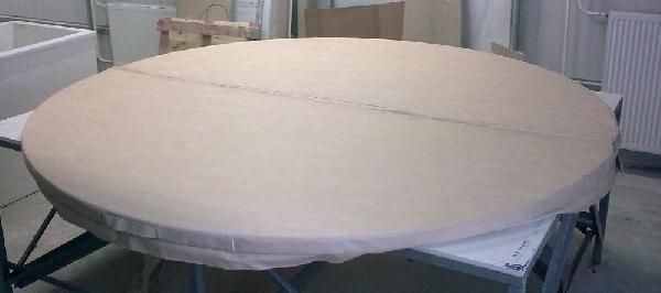 240 cm átmérőjű kör alakú beltéri termo fedés