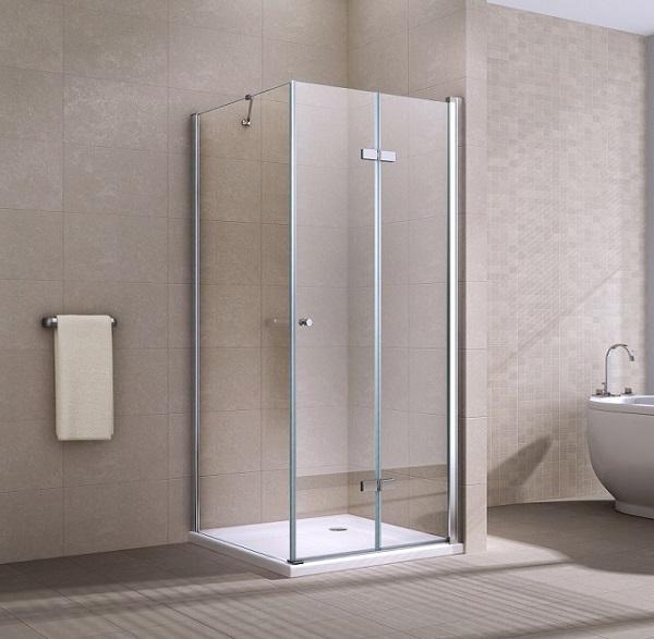 Cordo 90x90 cm szögletes üvegkabin nyíló ajtóval