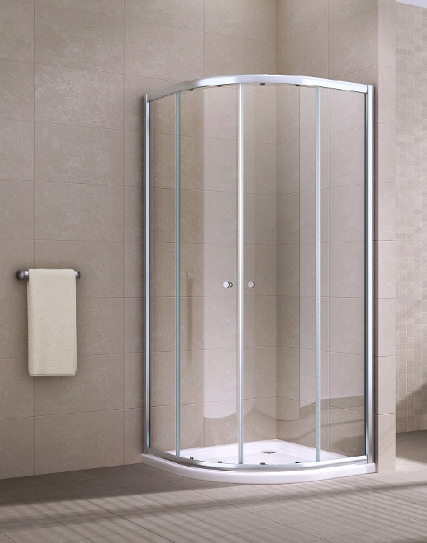 Muriel 90x90 cm íves, tolóajtós edzett üveg zuhanykabin