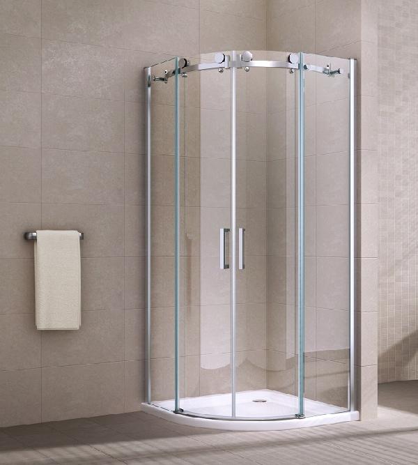 Belvedere Premium tolóajtós 8mm edzett üveg negyedköríves zuhanykabin