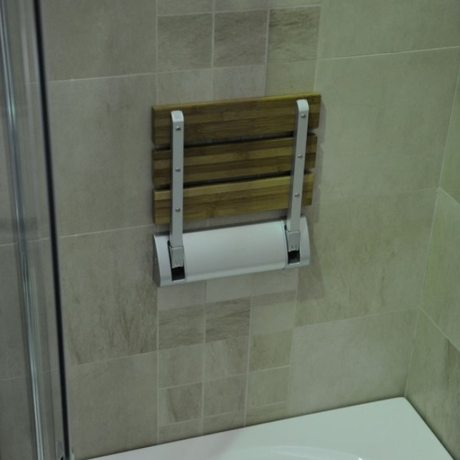Aqualine Zuhany ülőke 32x23 cm, bambusz (AE236) - KádOutlet.hu ...