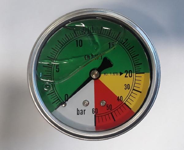 Nyomásmérő 0-60 bar MISO hátsó csatlakozós