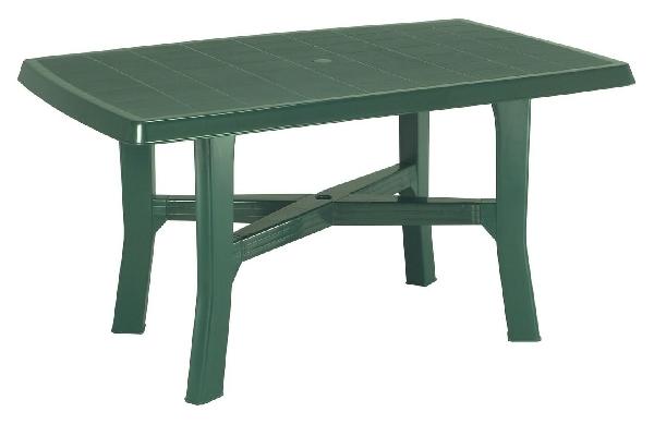 RODANO 138x88cm zöld asztal