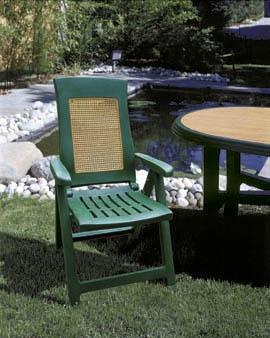 AMBRA WOOD magas támlás zöld szék