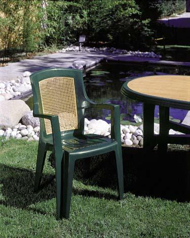 VIOLA WOOD magas támlás zöld szék